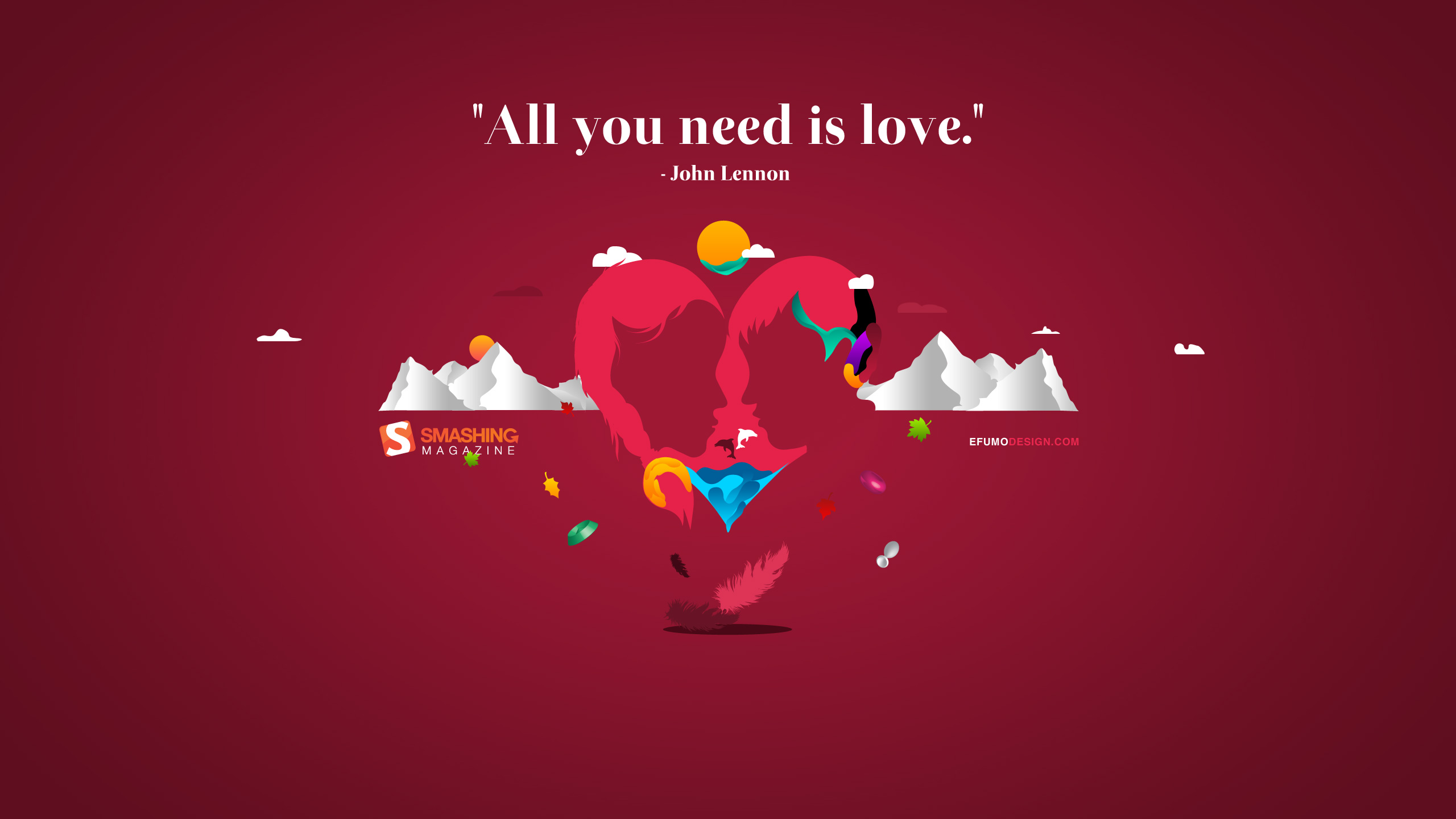 2560x1440 All You Need Is Love YouTube Channel Cover