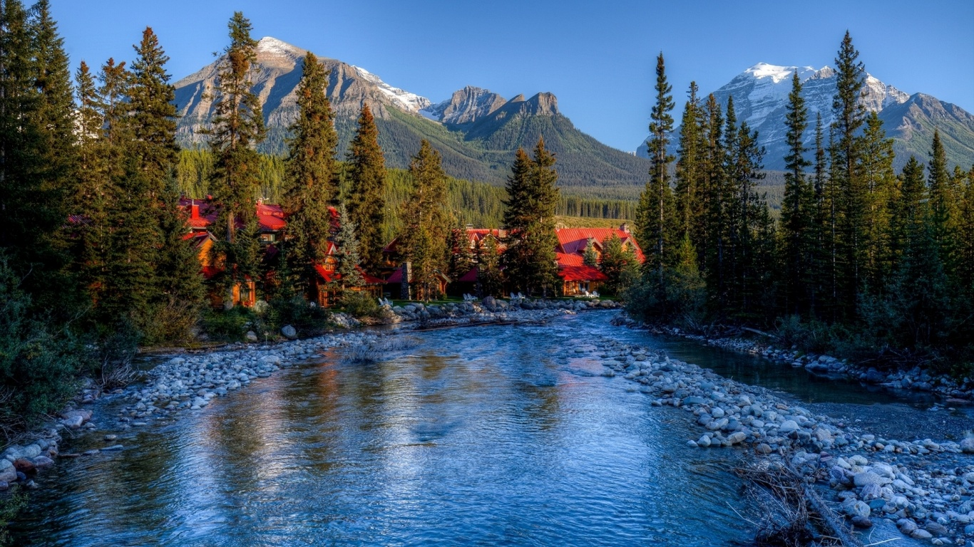 1366x768 amazing alberta banff canada desktop pc and mac for Home wallpaper canada