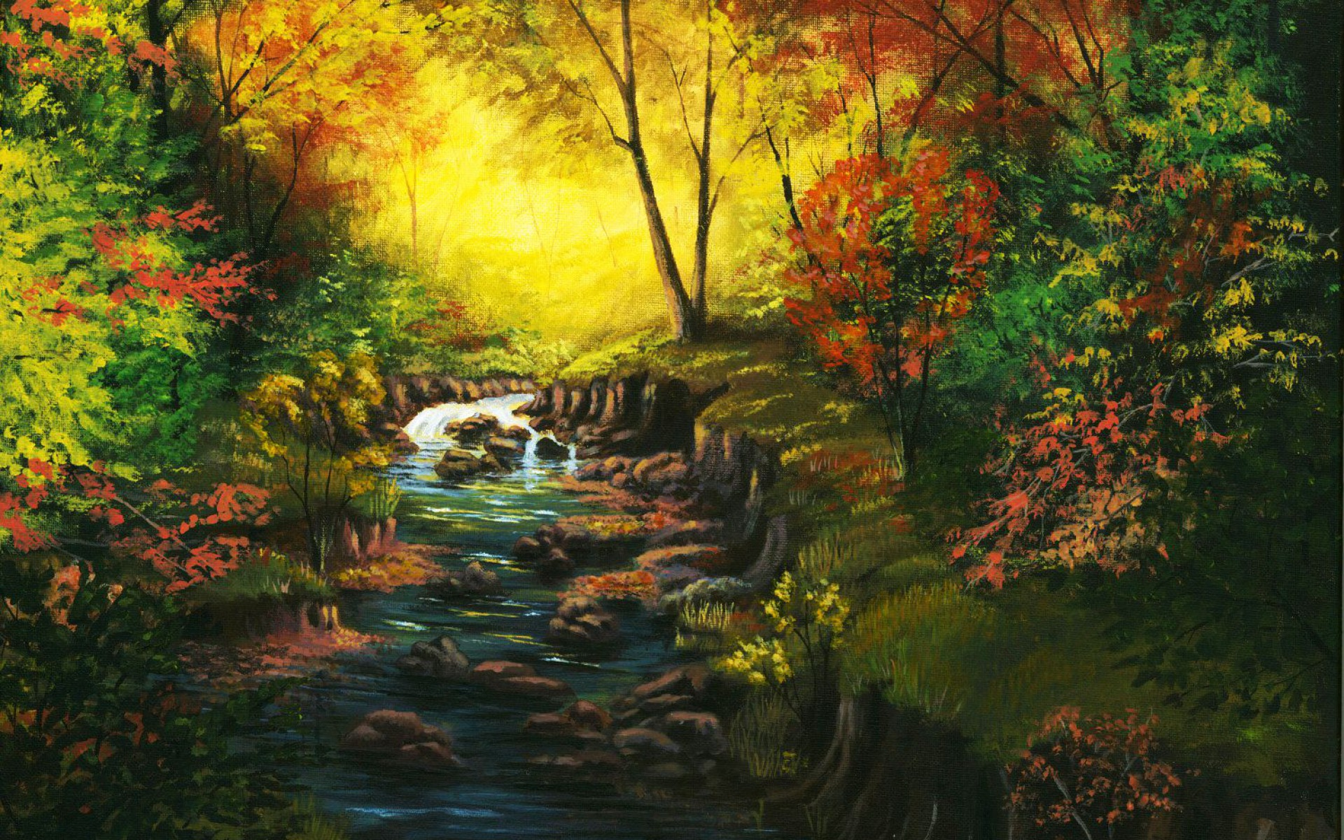 Amazing Autumn Forest & Creek wallpapers | Amazing Autumn ...