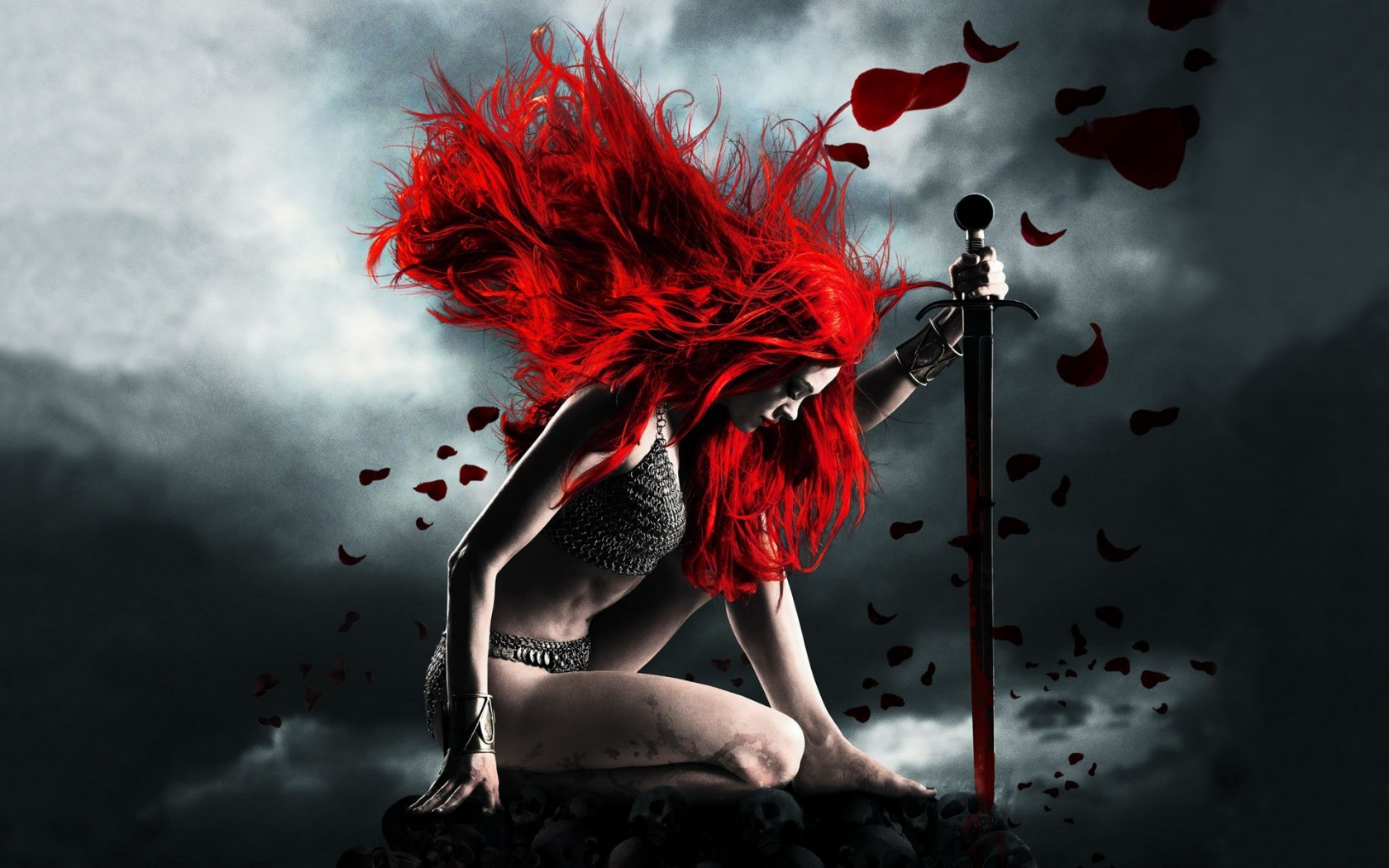 Red Hair Warrior Woman