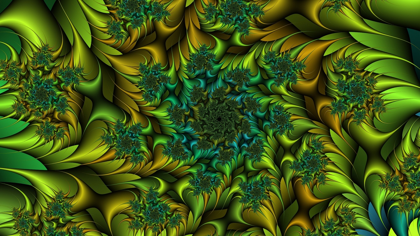 top fractal wallpapers floral - photo #25