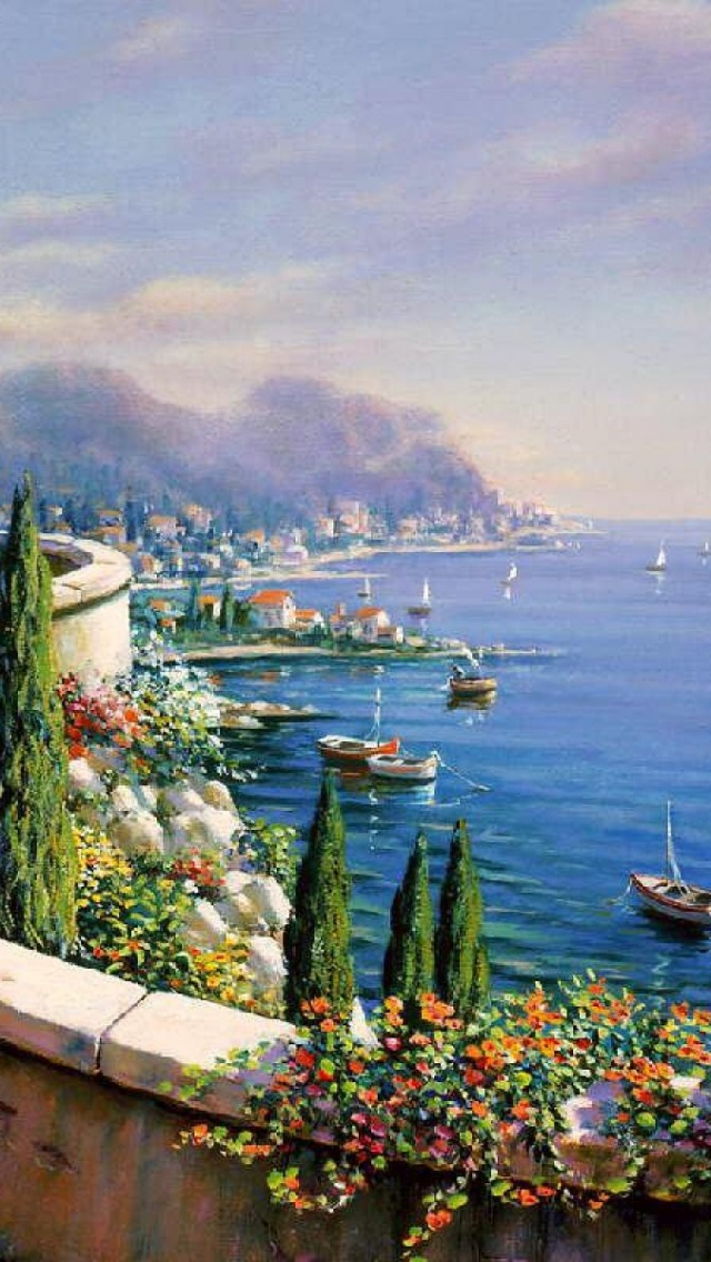 640x1136 Amazing View Of Italy Iphone 5 Wallpaper