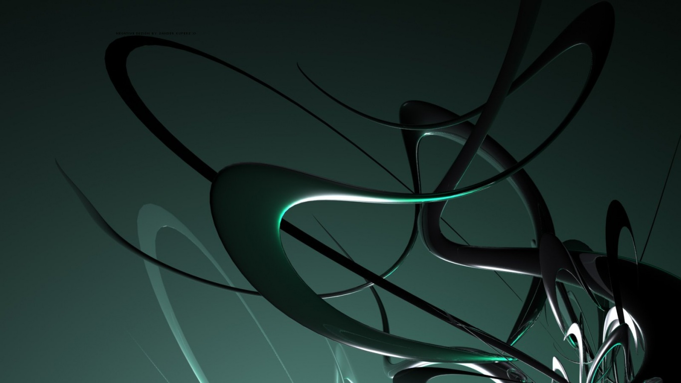 1366x768 amd 3d green desktop pc and mac wallpaper