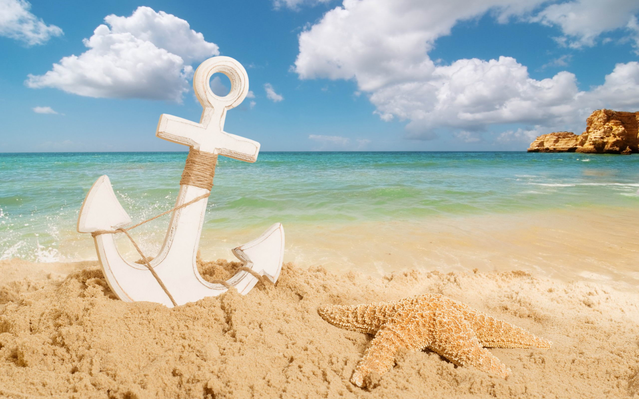 2560x1600 anchor on the beach desktop pc and mac wallpaper