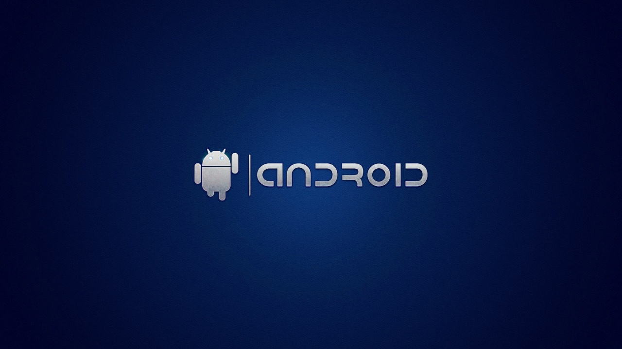 1280x720 Android On Blue Desktop Pc And Mac Wallpaper
