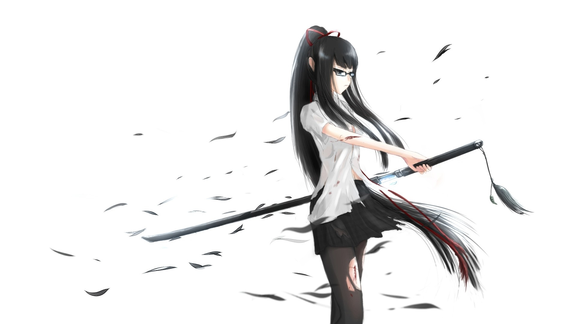1920x1080 anime girl with katana sword desktop pc and mac wallpaper