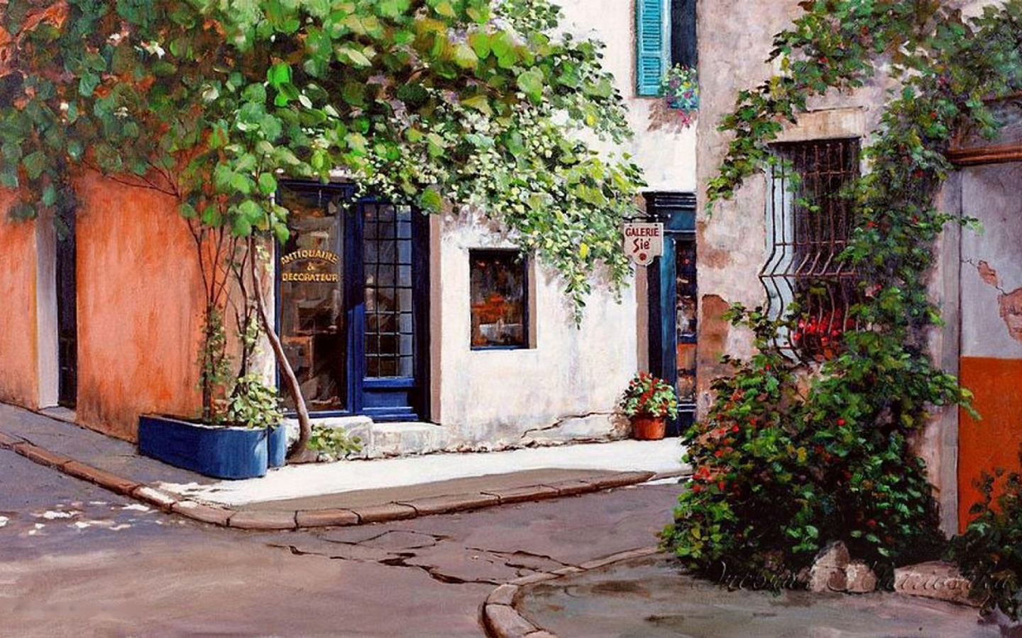 1440x900 Antiques Shops Provence France