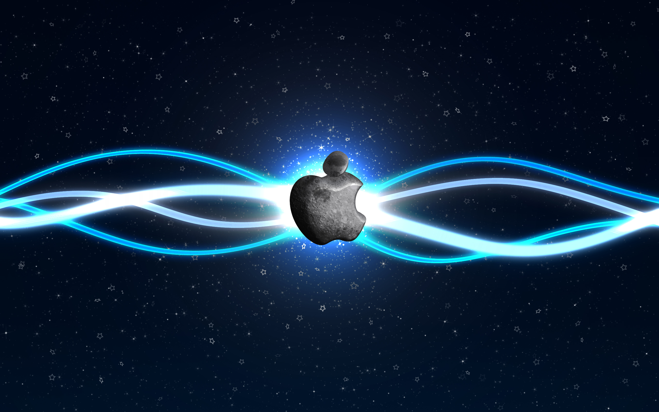 Apple Moon Desktop PC And Mac Wallpaper