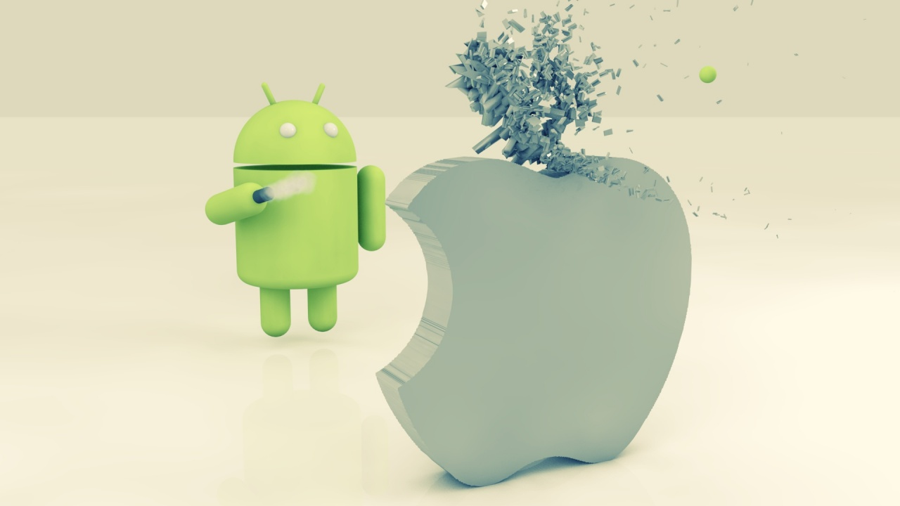 1280x720 Apple Vs Android Desktop PC And Mac Wallpaper