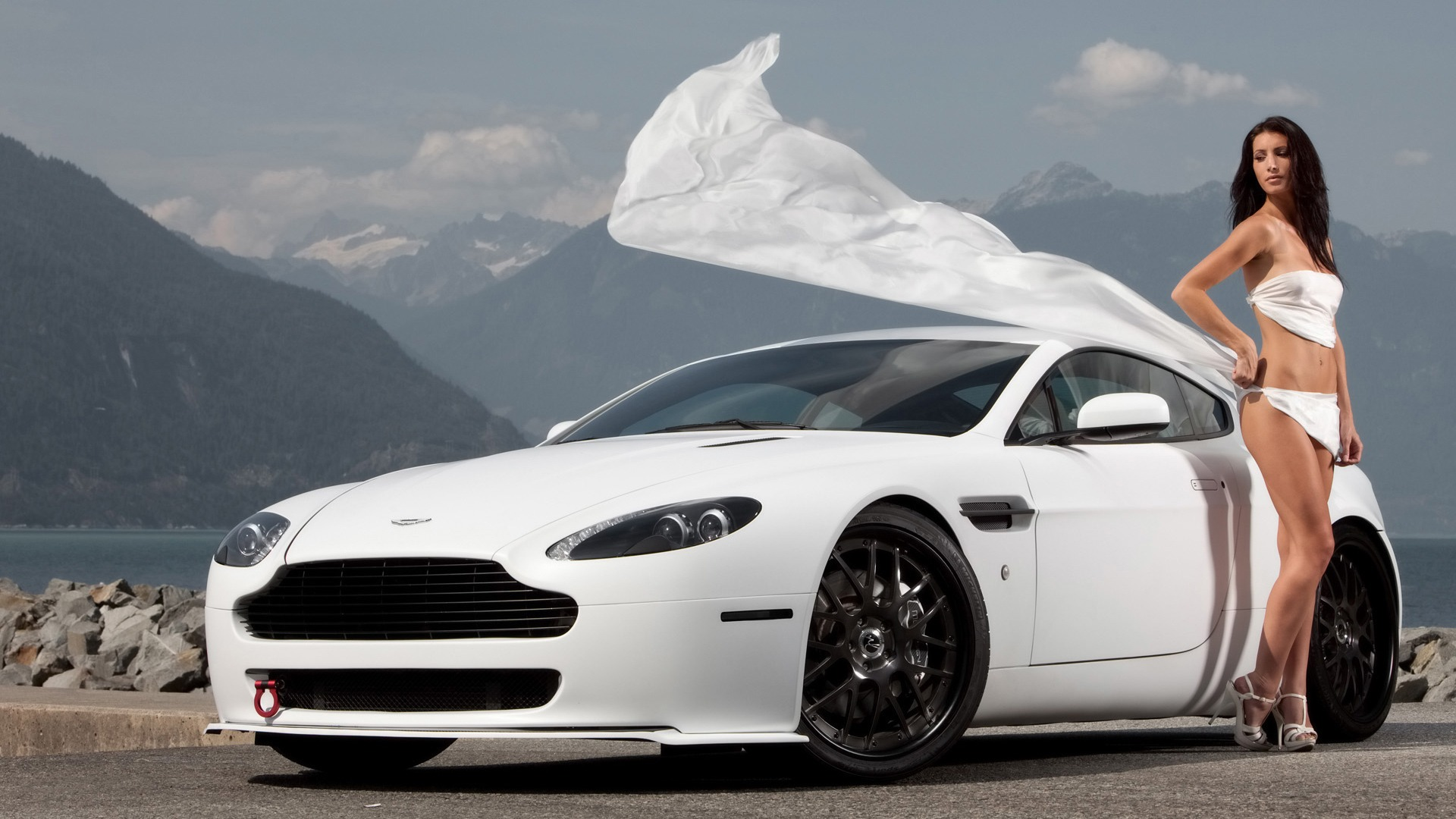 10 Most Popular Cool Hd Car Wallpapers Full Hd 1920 1080: 1920x1080 Aston Martin Girl In White Desktop PC And Mac