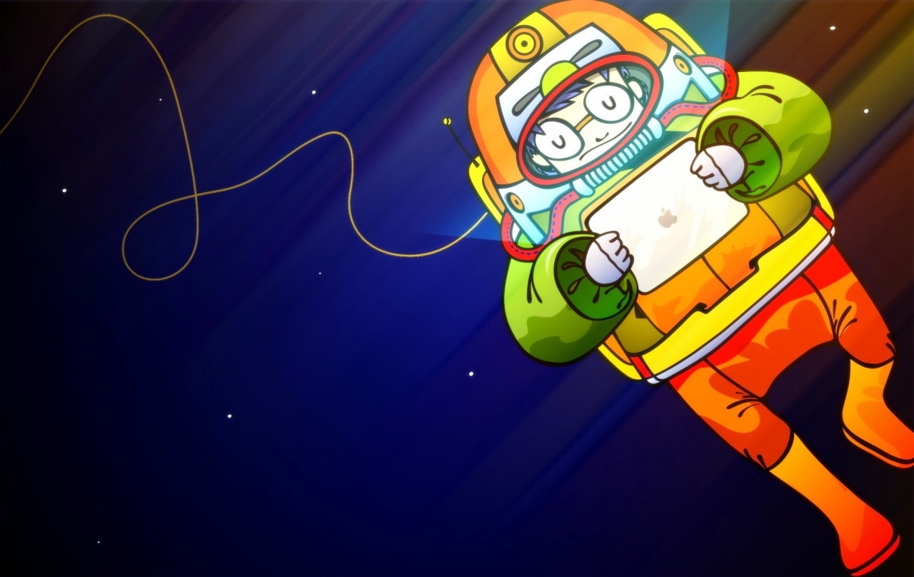 1280x800 Astronaut with iPad