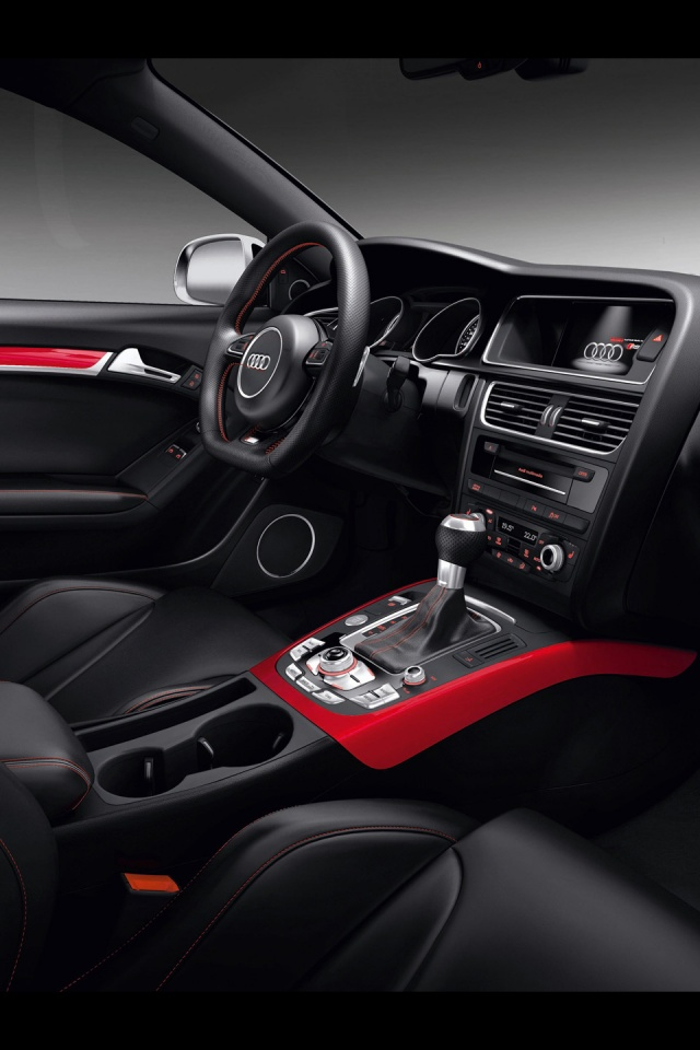 640x960 Audi RS5 Interior Iphone 4 wallpaper