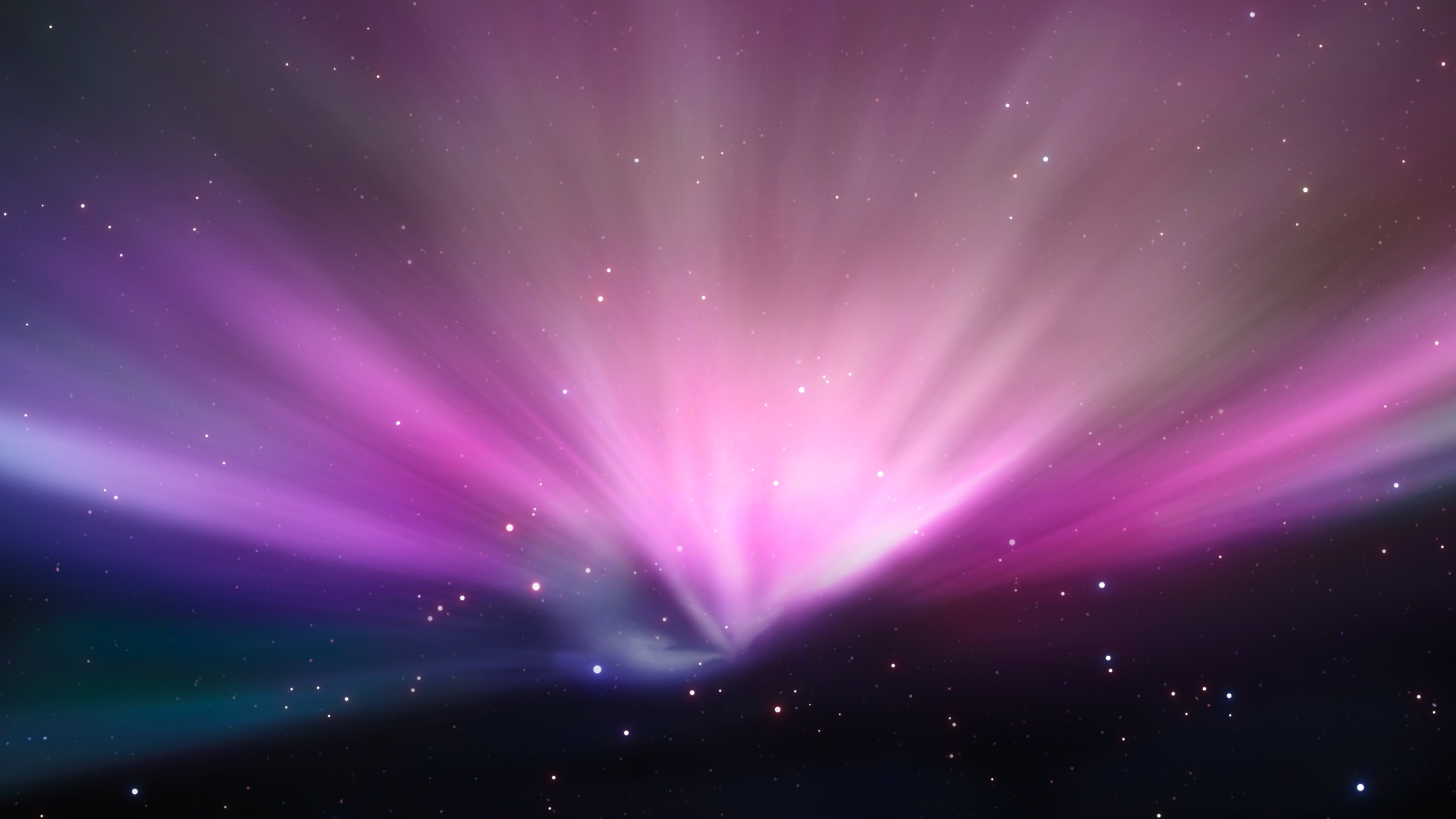 2560x1440 Aurora in space desktop PC and Mac wallpaper