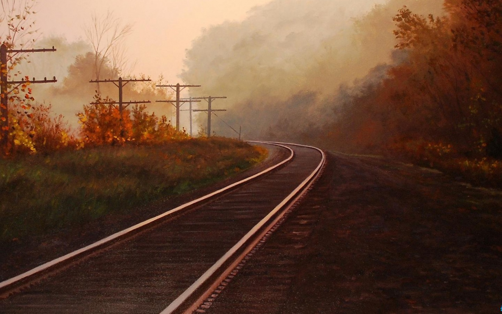 1500x500 Autumn & Rail Road