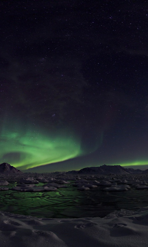 480x800 Awesome Northern Lights