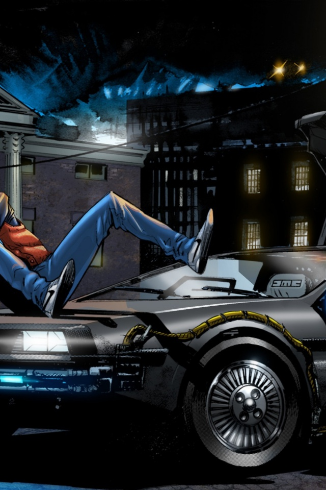 640x960 back to the future 4 art iphone 4 wallpaper