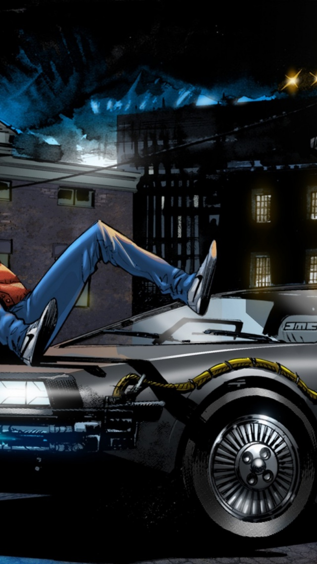 640x1136 Back To The Future 4 Art Iphone 5 Wallpaper