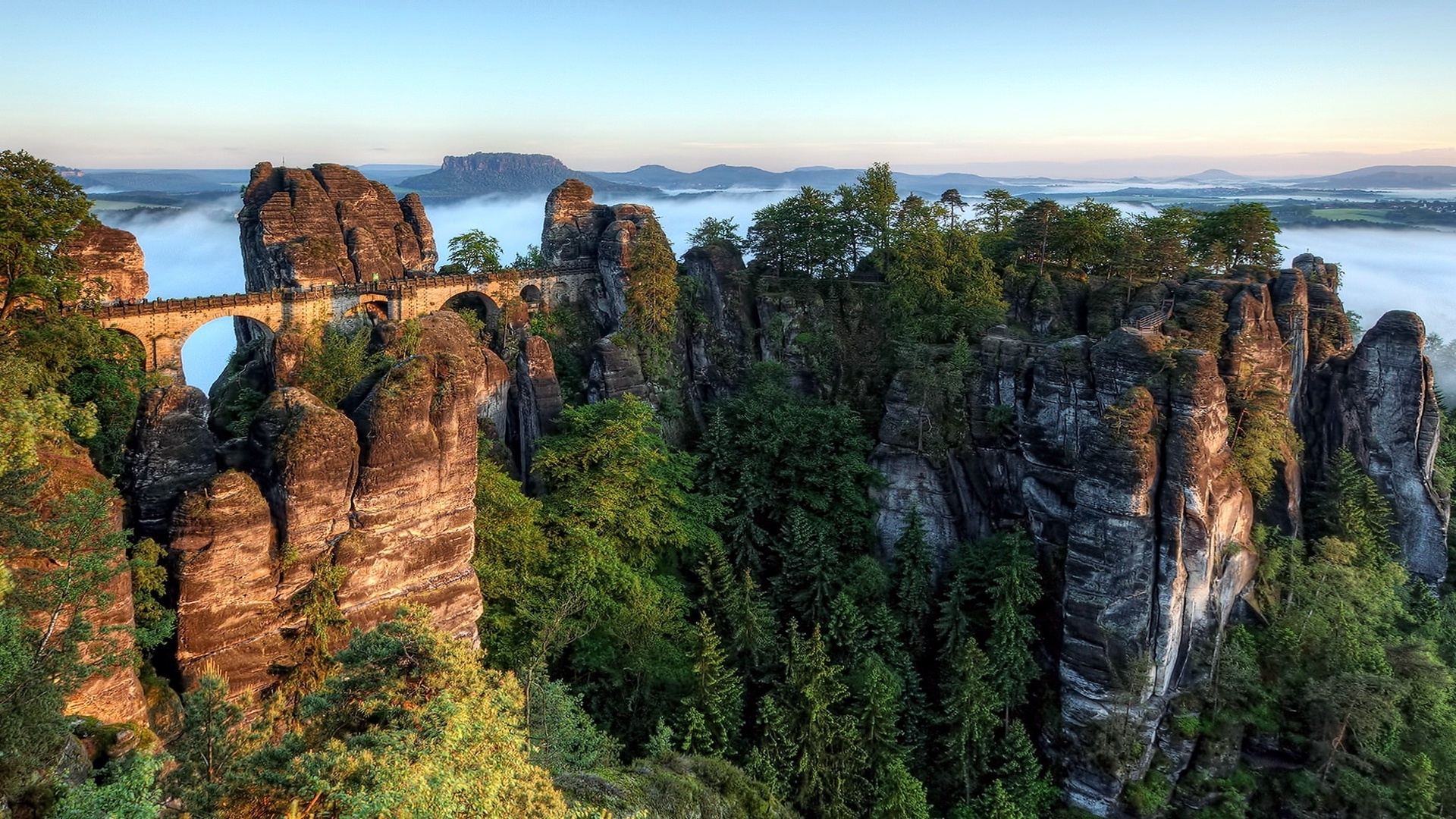 bastei bridge 1920x1080 - photo #1