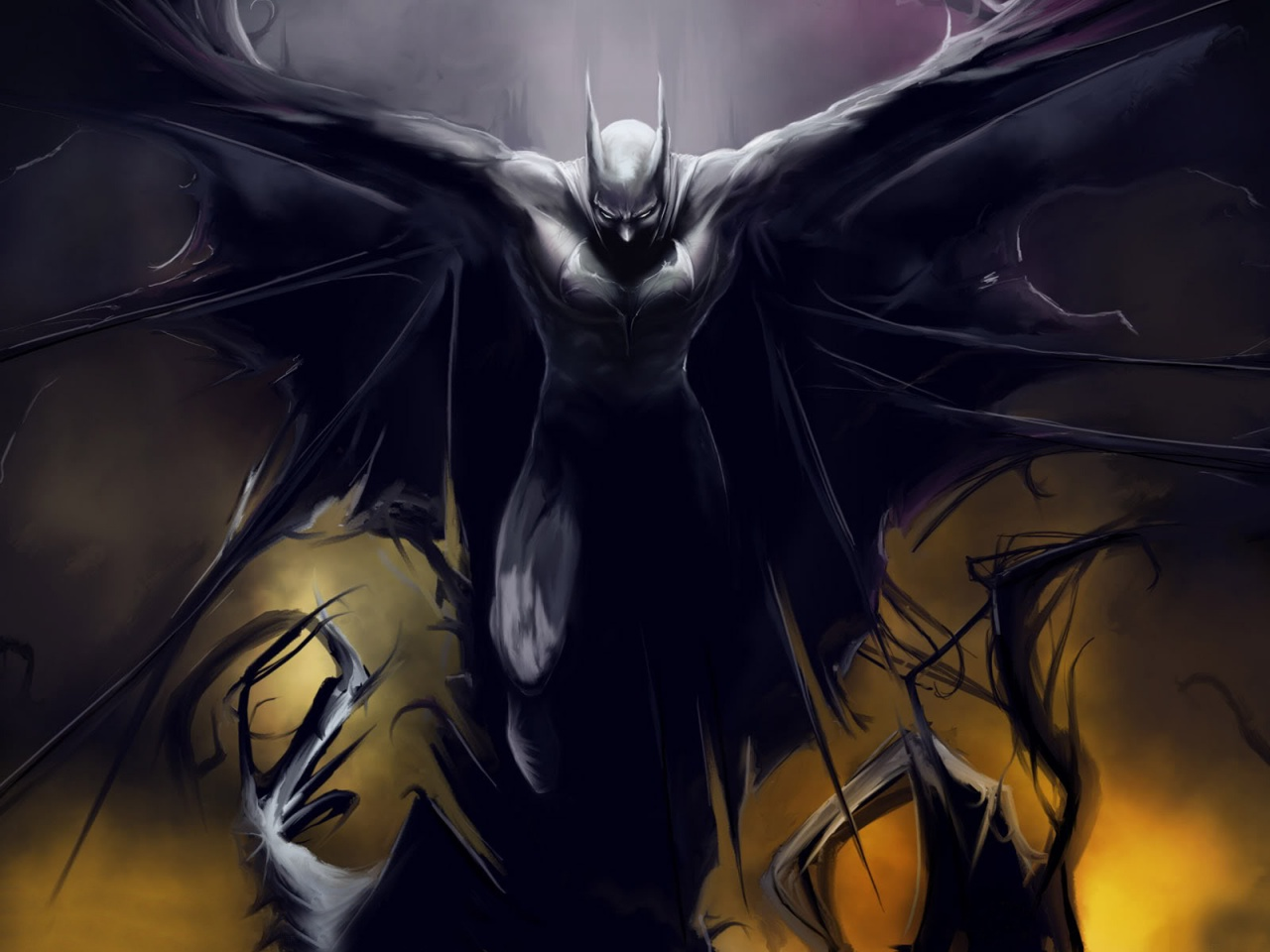1280x720 Batman, comic, cartoons