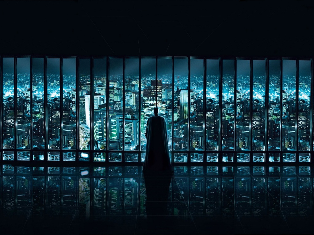 1024x768 batman watching desktop pc and mac wallpaper