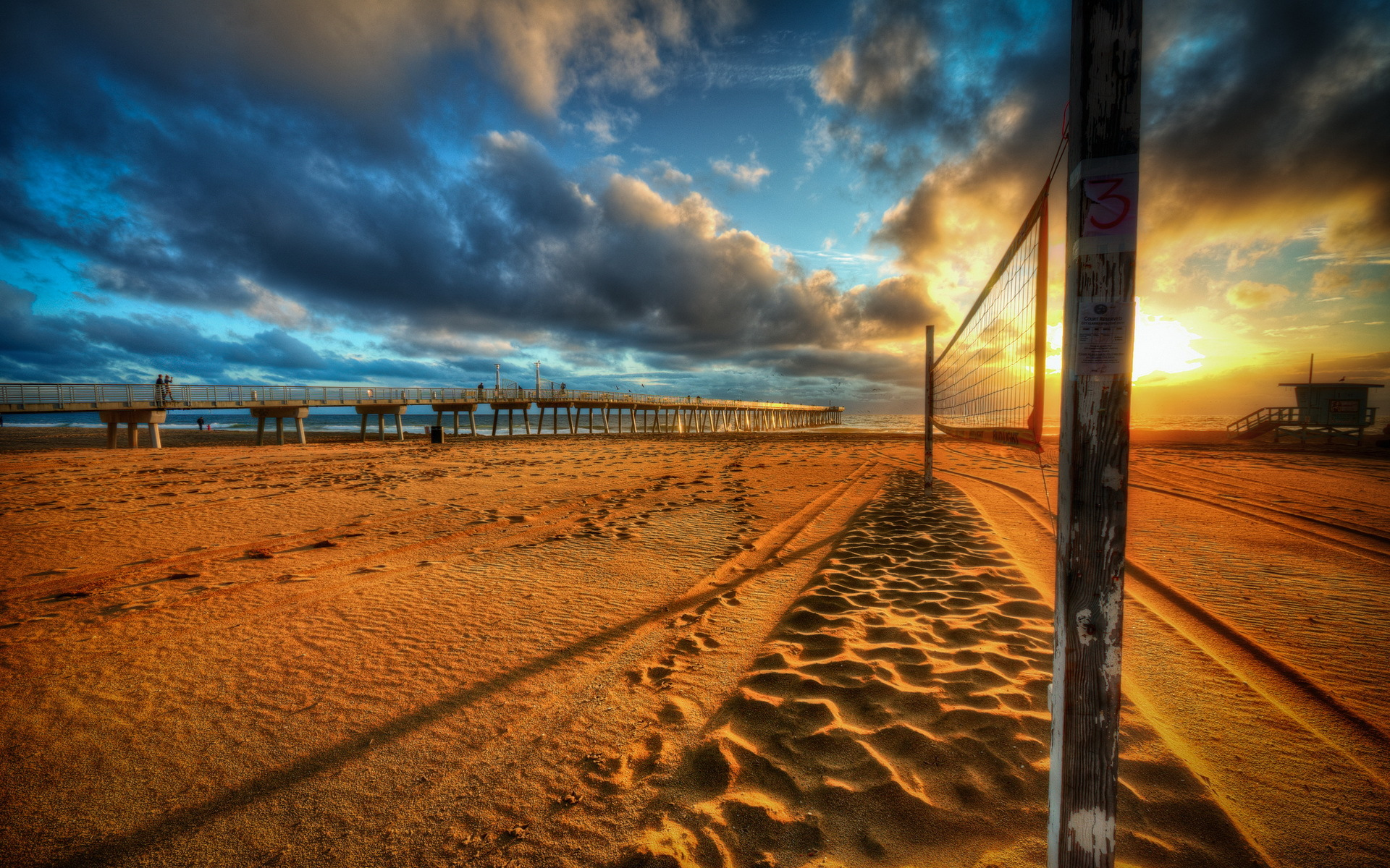 Image: Beach Pier Sea Sunset Wallpapers And Stock Photos. «