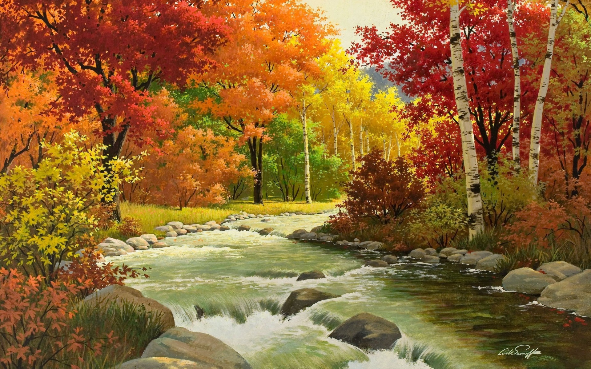 Collection Autumn Creek In The