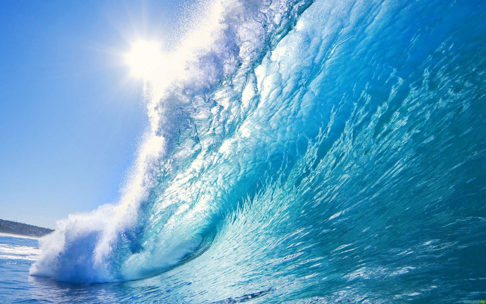 1920x1200 Beautiful ocean wave desktop PC and Mac wallpaper
