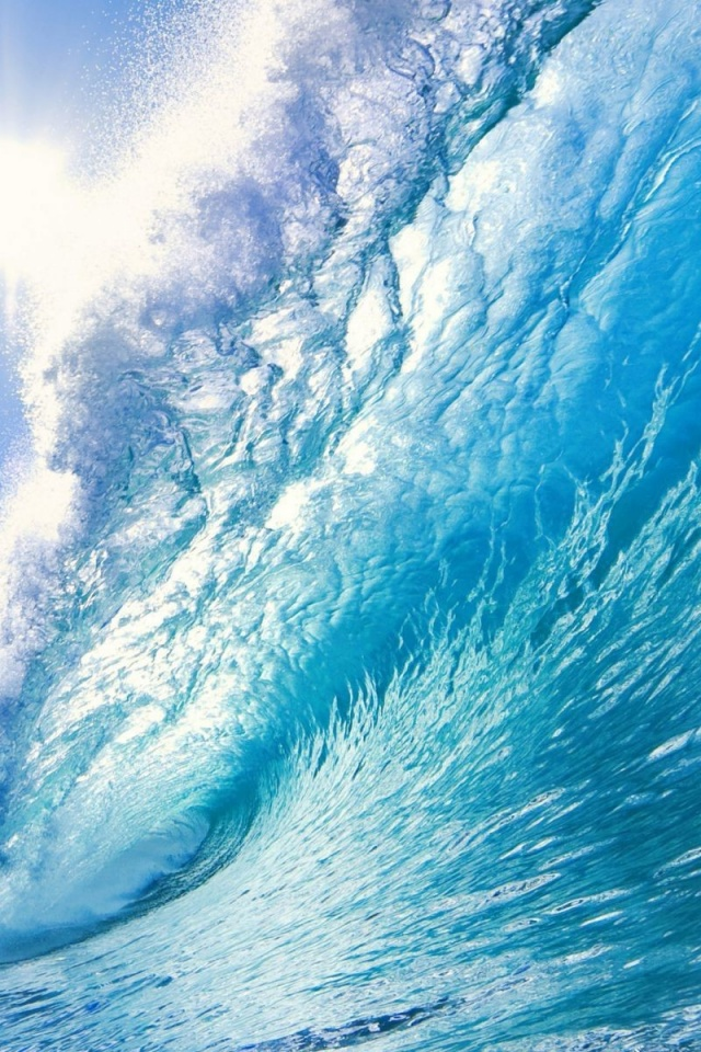 640x960 beautiful ocean wave iphone 4 wallpaper