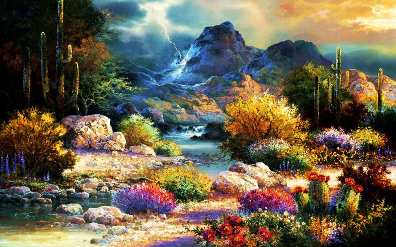 1680x1050 Beautiful Spring Time Valley Desktop PC And Mac