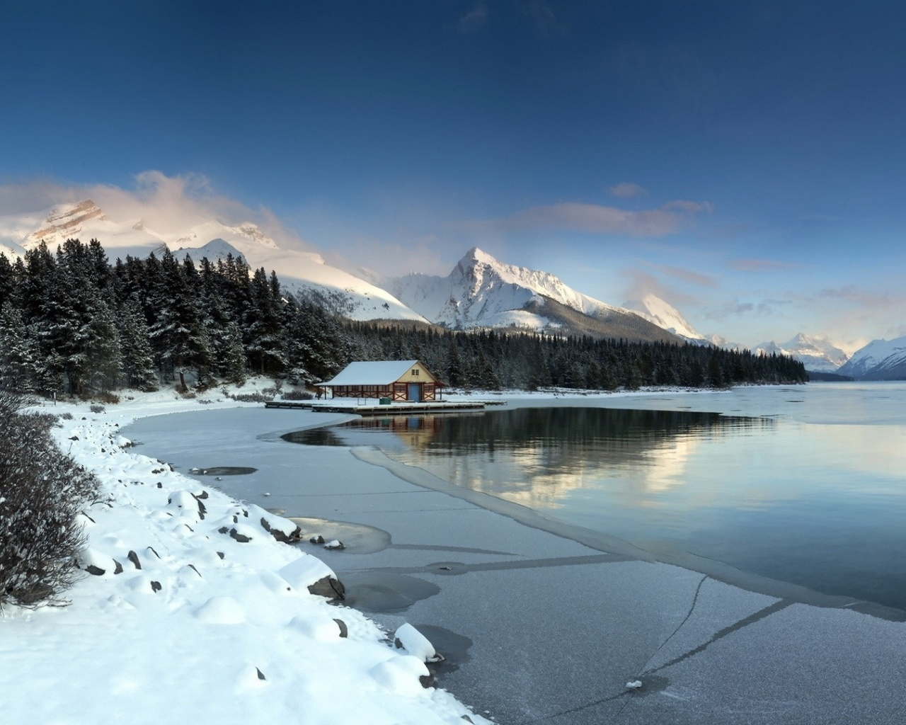 1280x1024 Beautiful Winter Landscape Desktop PC And Mac Wallpaper