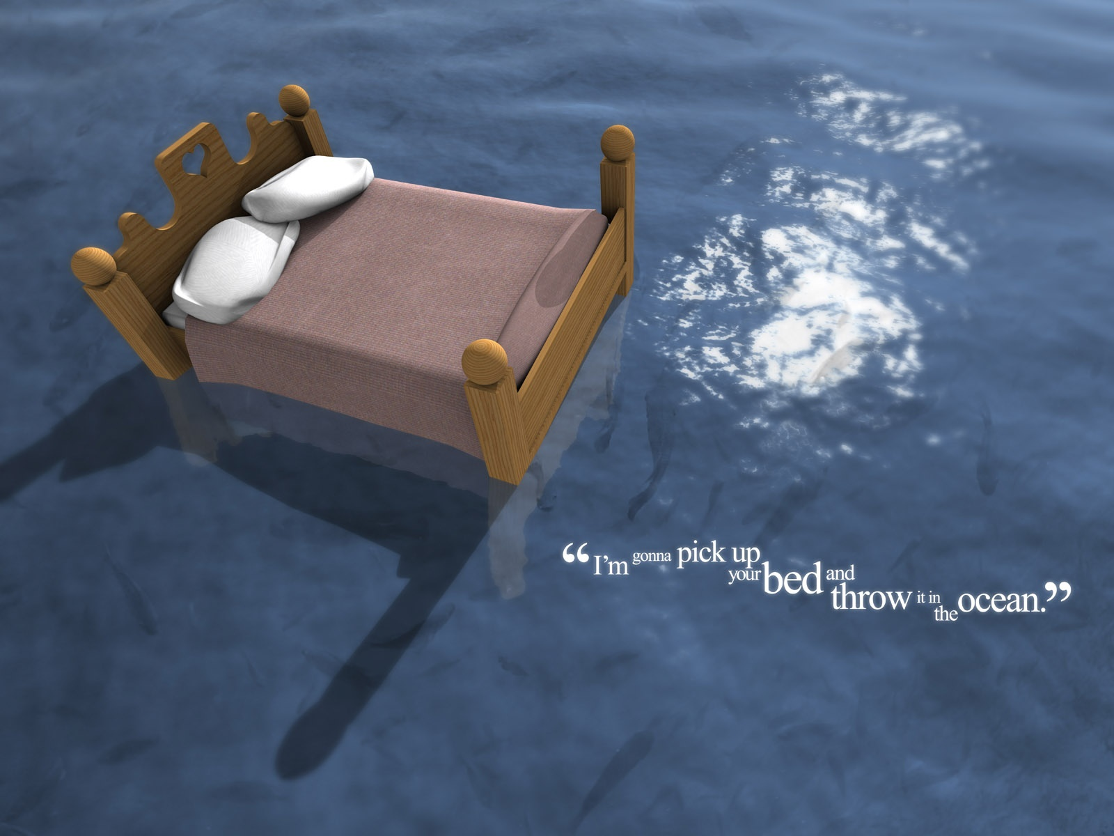 Bed in ocean wallpapers and stock photos. Bed in ocean wallpapers   Bed in ocean stock photos