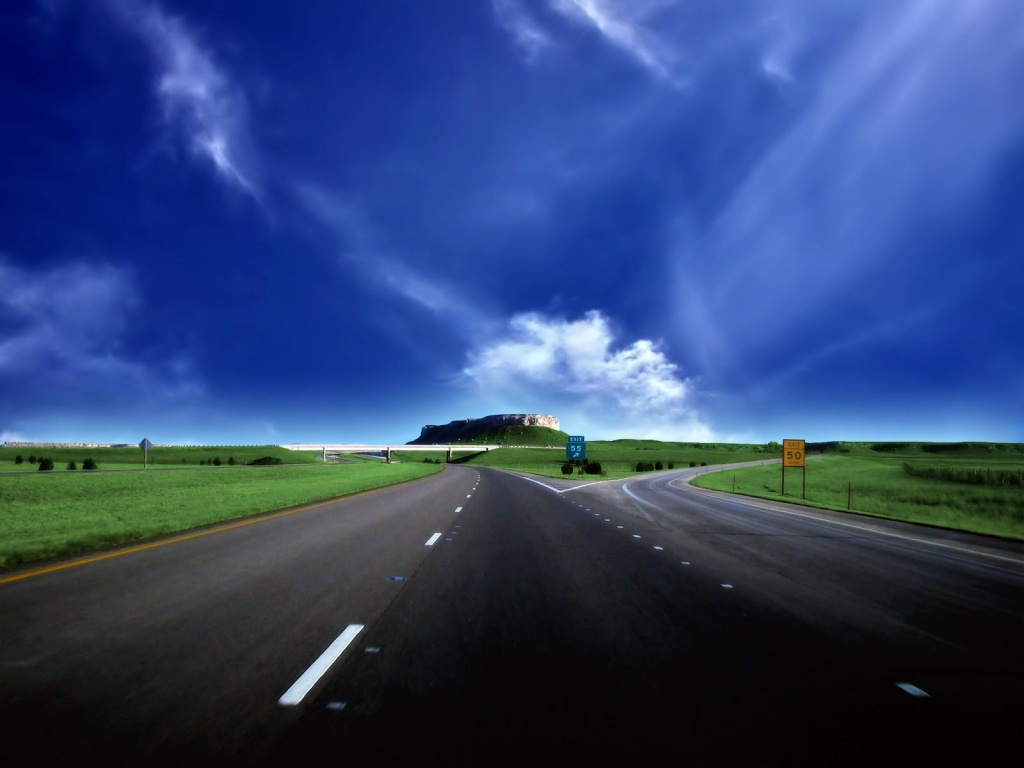 1024x768 Bifurcation Road desktop wallpapers and stock photos