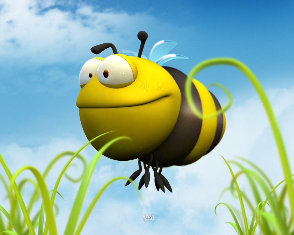 Bee-Wallpaper-On-Desktop