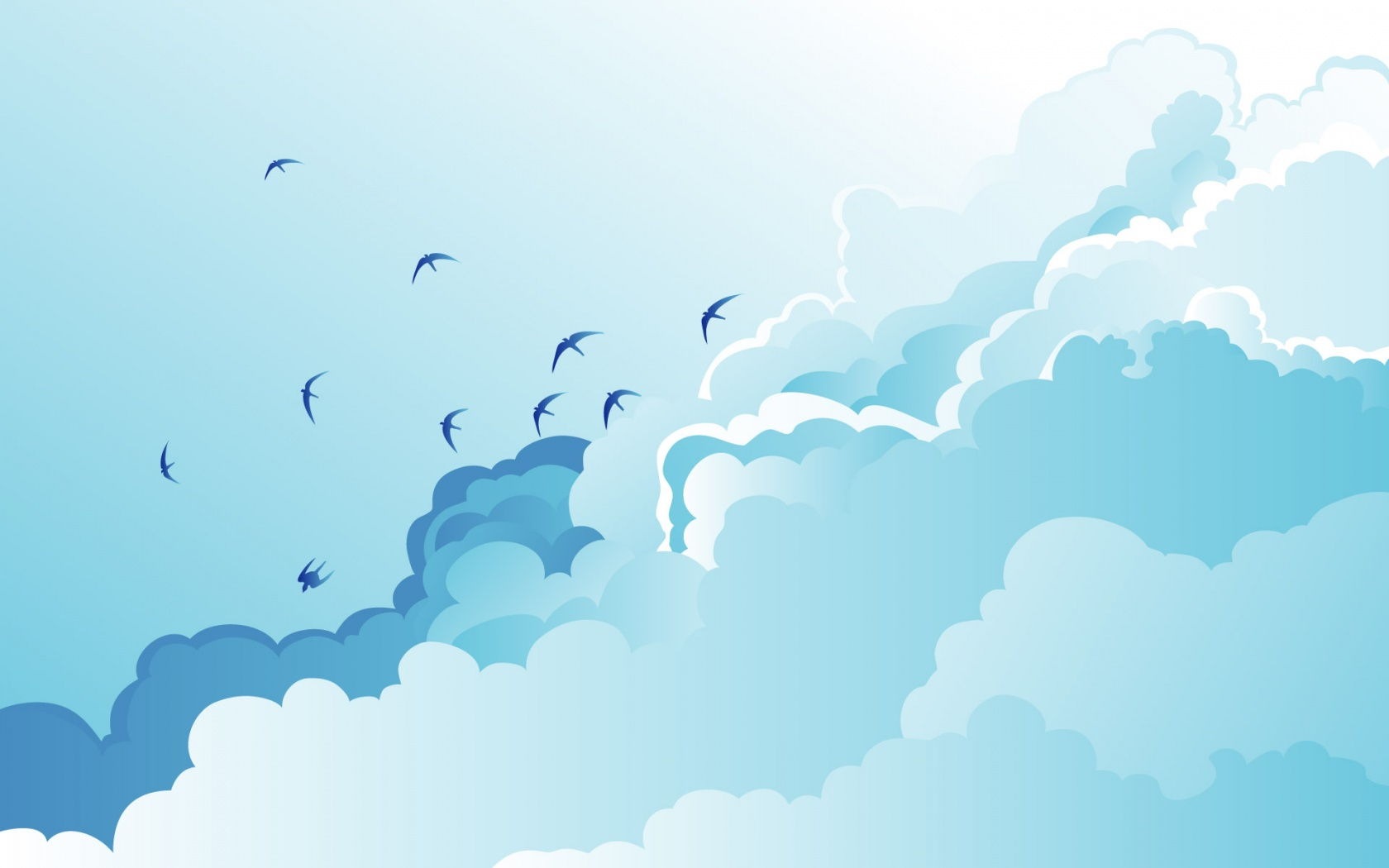 Flock Of Birds Flying Vector Art HD desktop wallpaper : High ...
