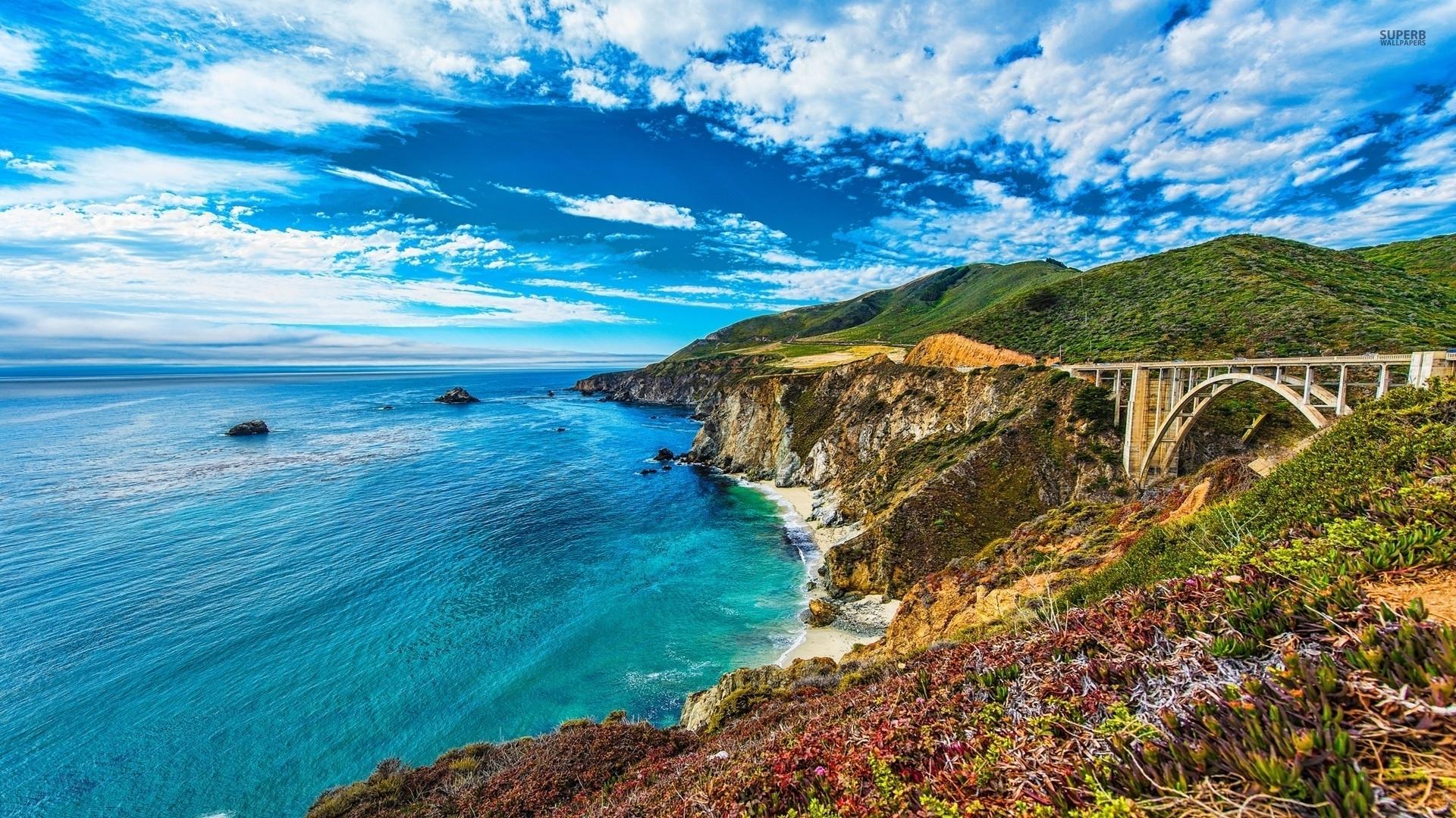1920x1080 Bixby Creek Bridge Big Sur Desktop Pc And Mac Wallpaper