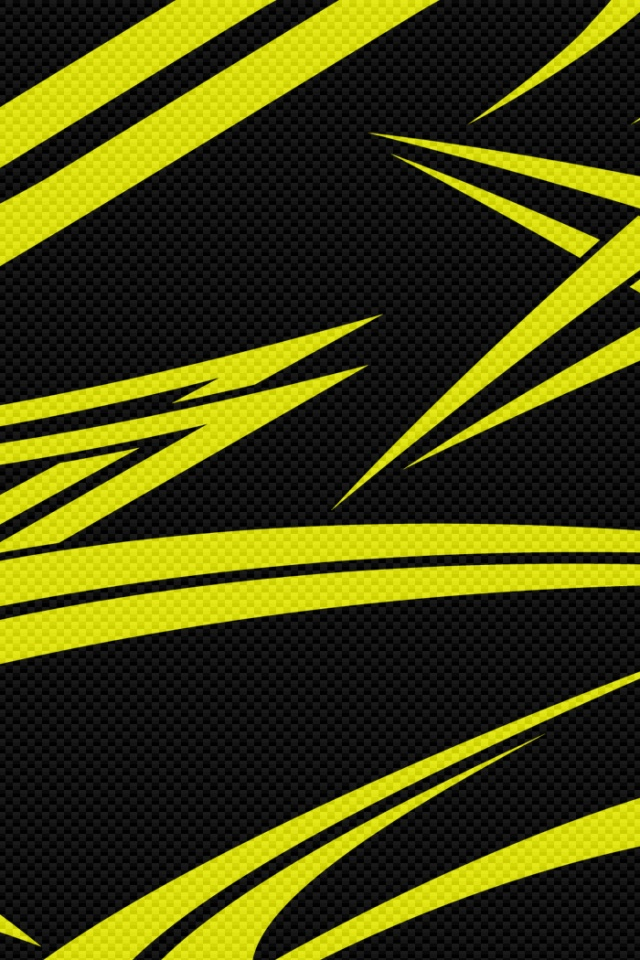 640x960 Black Yellow Carbon Iphone 4 Wallpaper