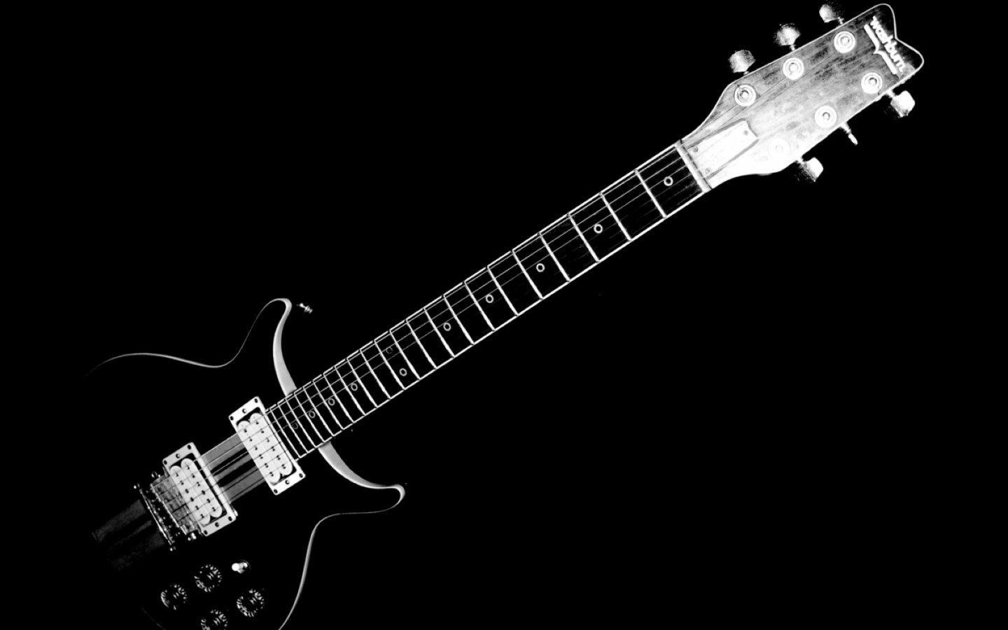 1440x900 Black and White Electric Guitar desktop PC and ...