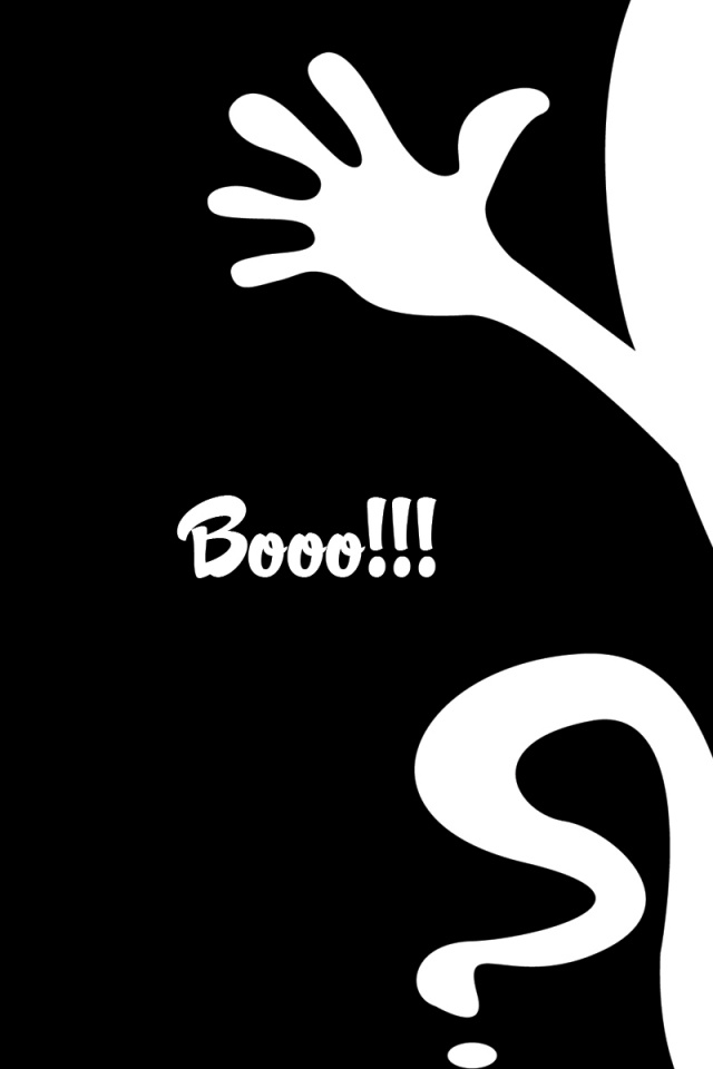 640x960 black and white halloween iphone 4 wallpaper - Halloween black and white ...