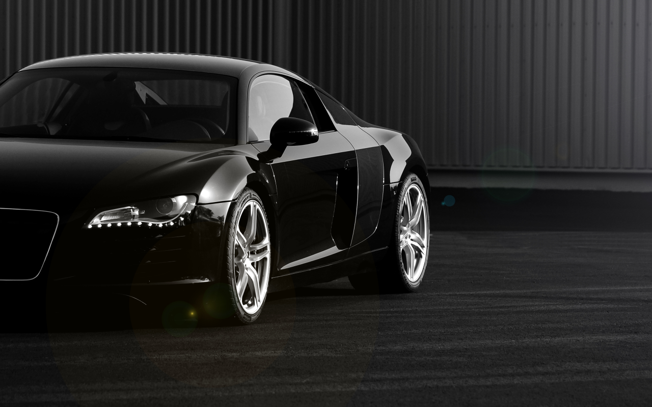 1280x800 Black Audi R8 Section Desktop Pc And Mac Wallpaper