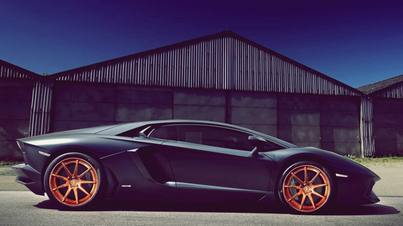Best Wallpaper Mac Lamborghini - black-lamborghini-aventador-with-orange-rims_wallpapers_34597_1366x768  Photograph_673969.jpg