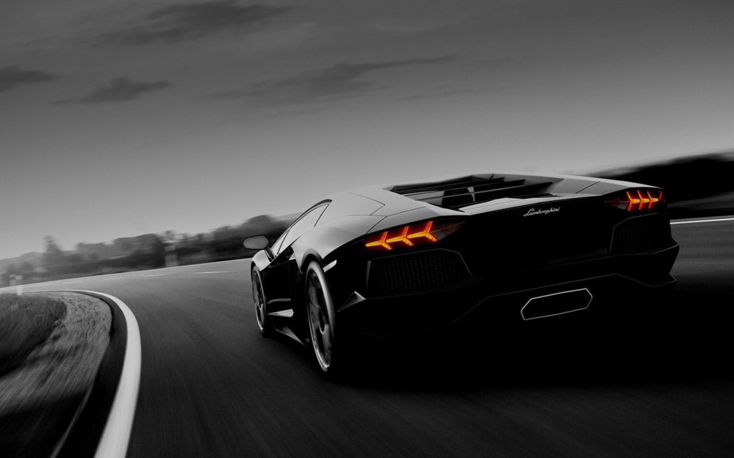 1440x900 Black Lamborghini Murcielago Racing Desktop PC And Mac Wallpaper