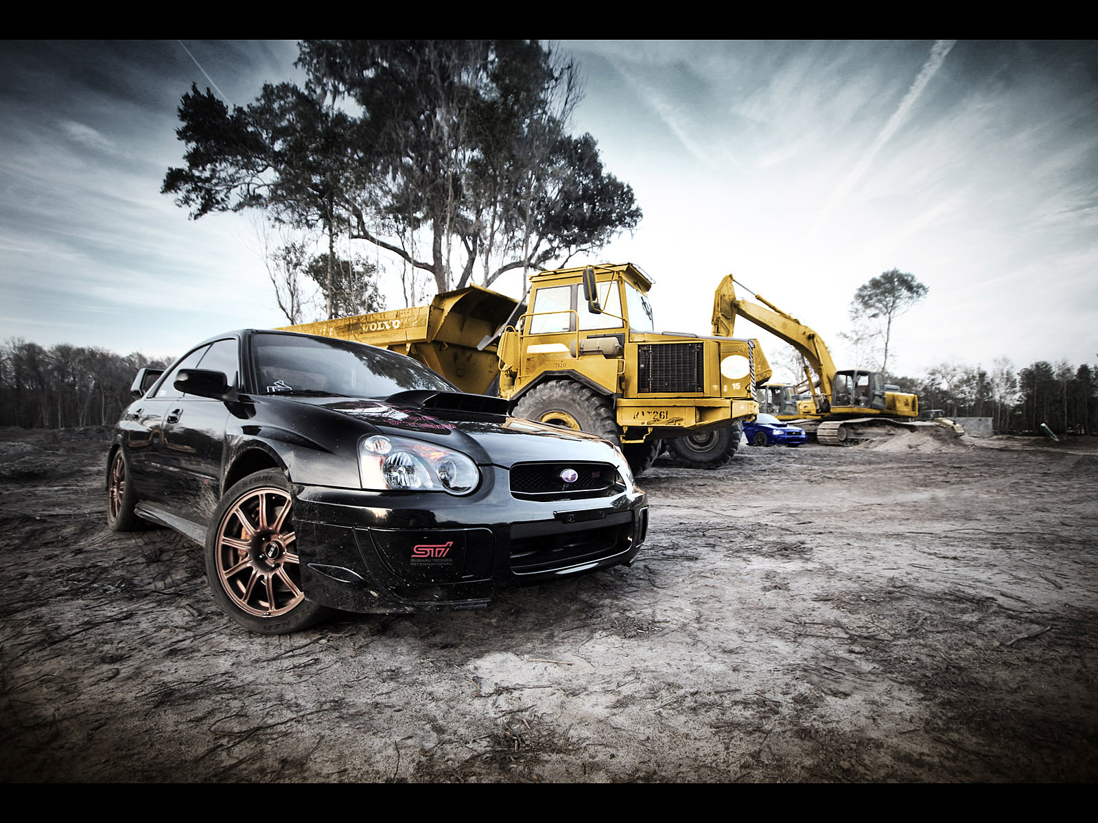1600x1200 Black Subaru STI Desktop PC And Mac Wallpaper