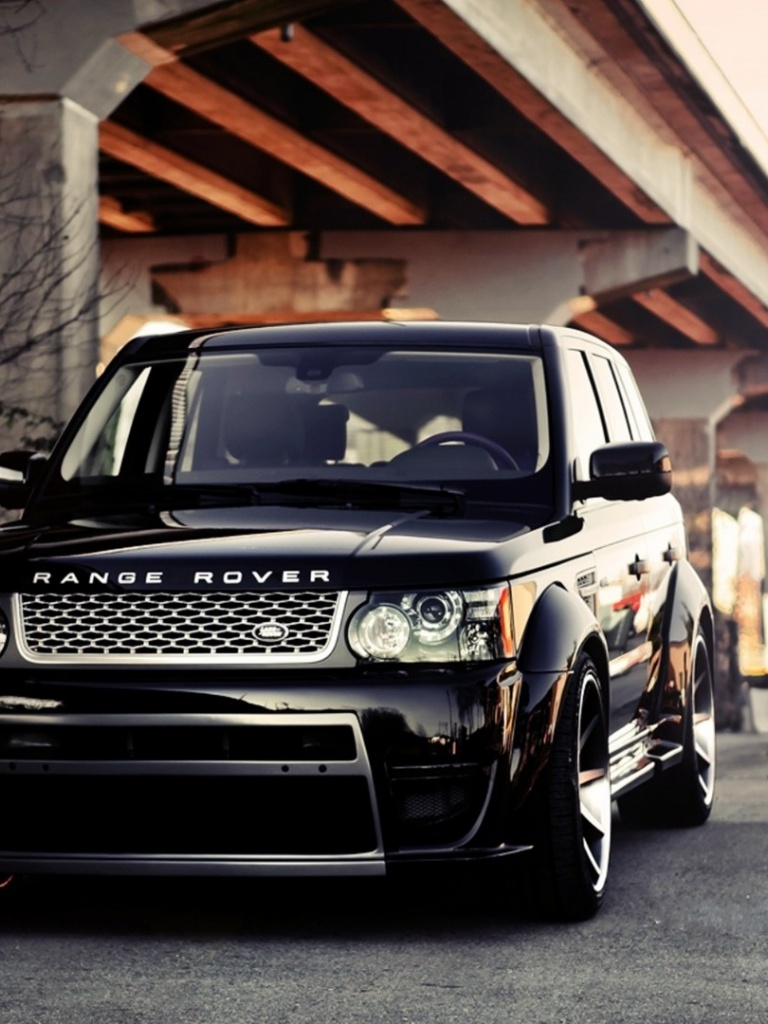 Range Rover Black >> 768x1024 Black Tuned Land Rover Range Rover Vogue desktop PC and Mac wallpaper