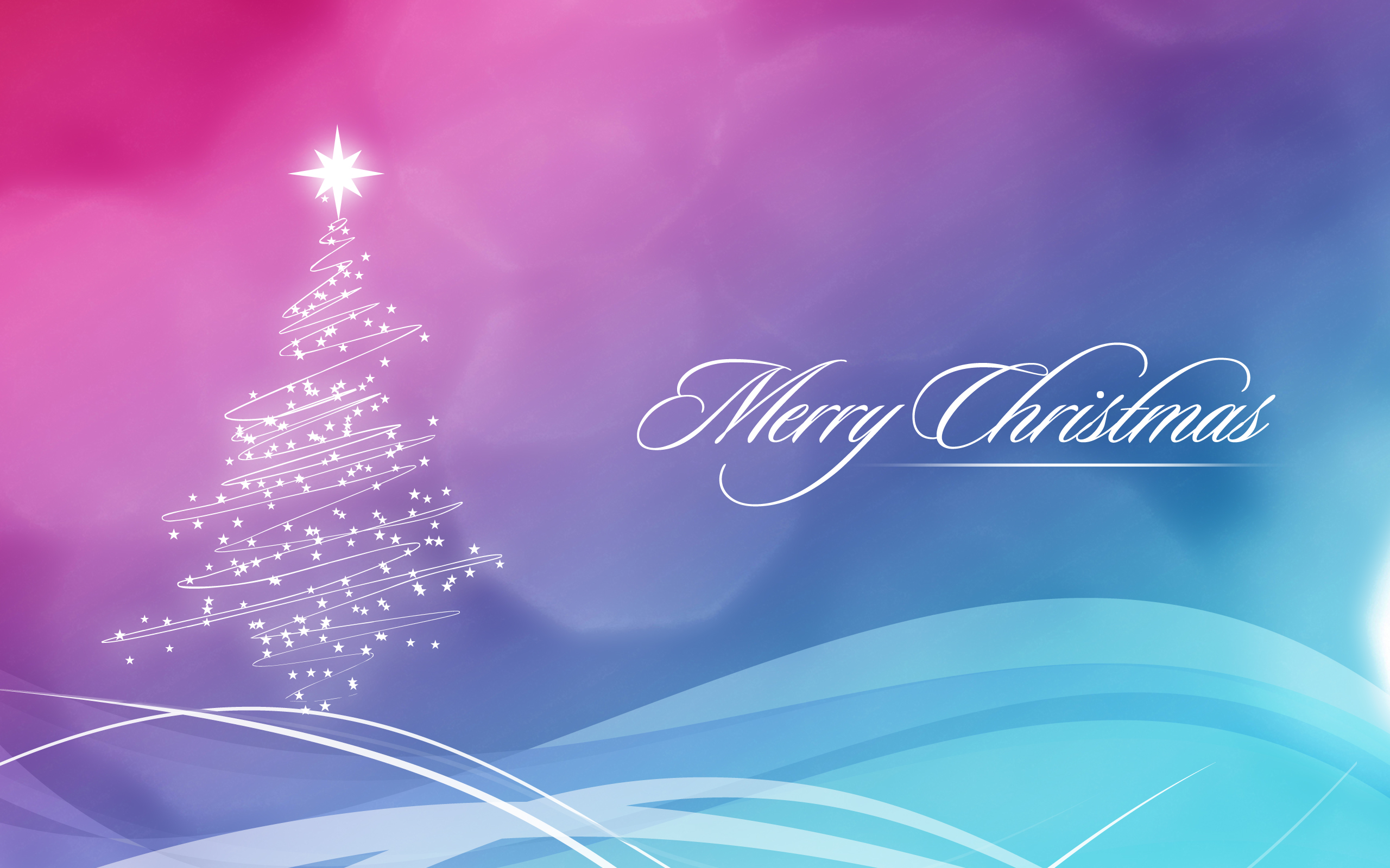 2560x1440 Blue and Pink Christmas Wallpaper YouTube Channel Cover