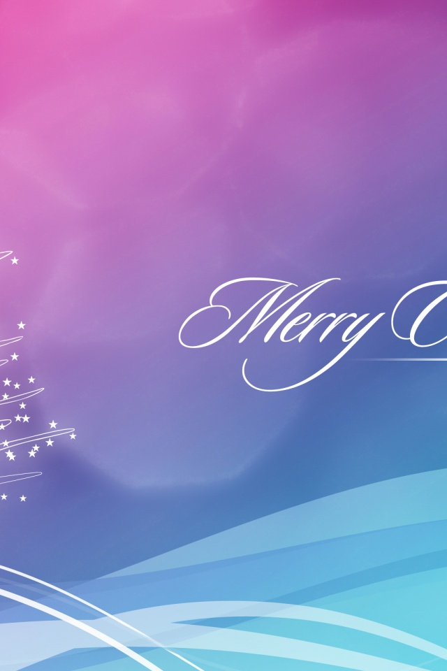 640x960 Blue And Pink Christmas Wallpaper Iphone 4 Wallpaper