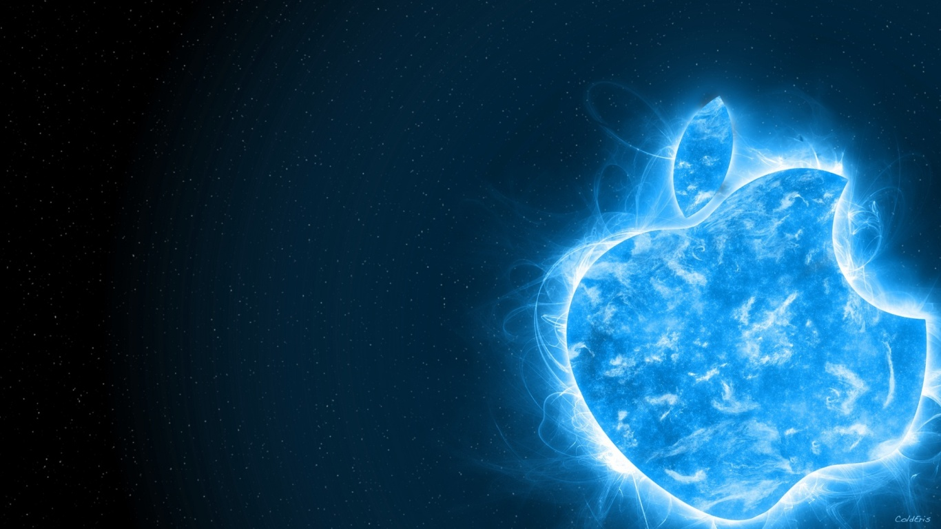 1366x768 Blue Apple Desktop PC And Mac Wallpaper