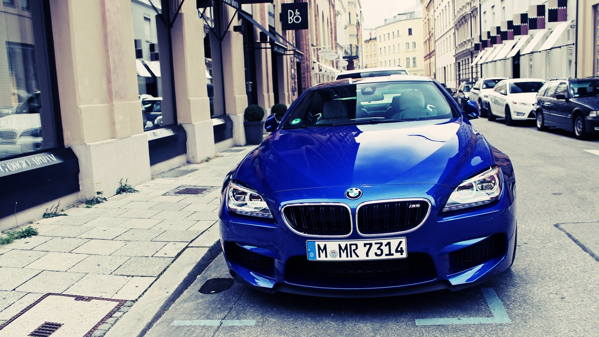 Hd wallpaper iphone 6 - 1920x1080 Blue Bmw M6 On The Streets Desktop Pc And Mac