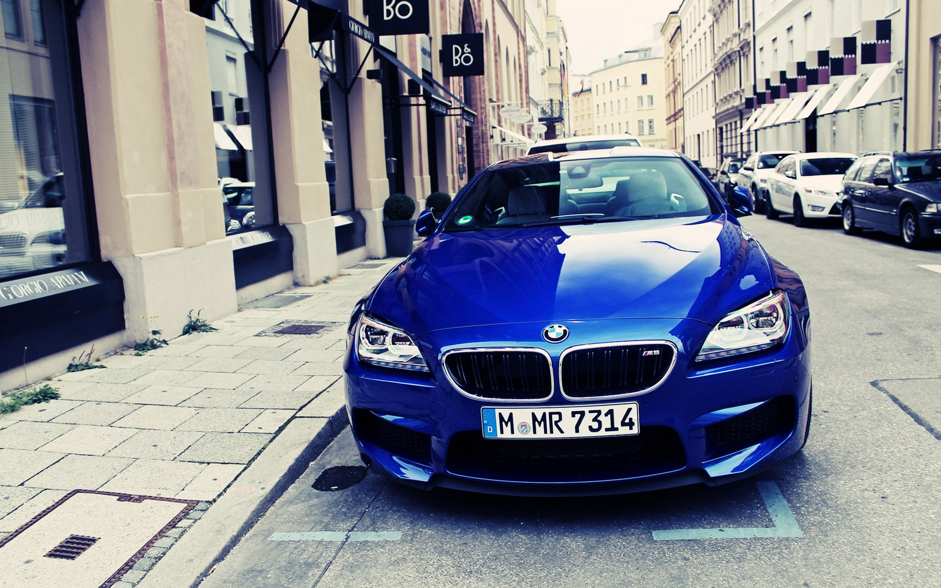 1920x1200 Blue BMW M6 On The Streets Desktop PC And Mac Wallpaper