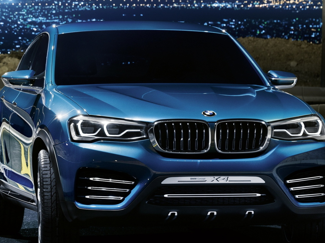 1280x960 blue bmw x4 front angle desktop pc and mac wallpaper