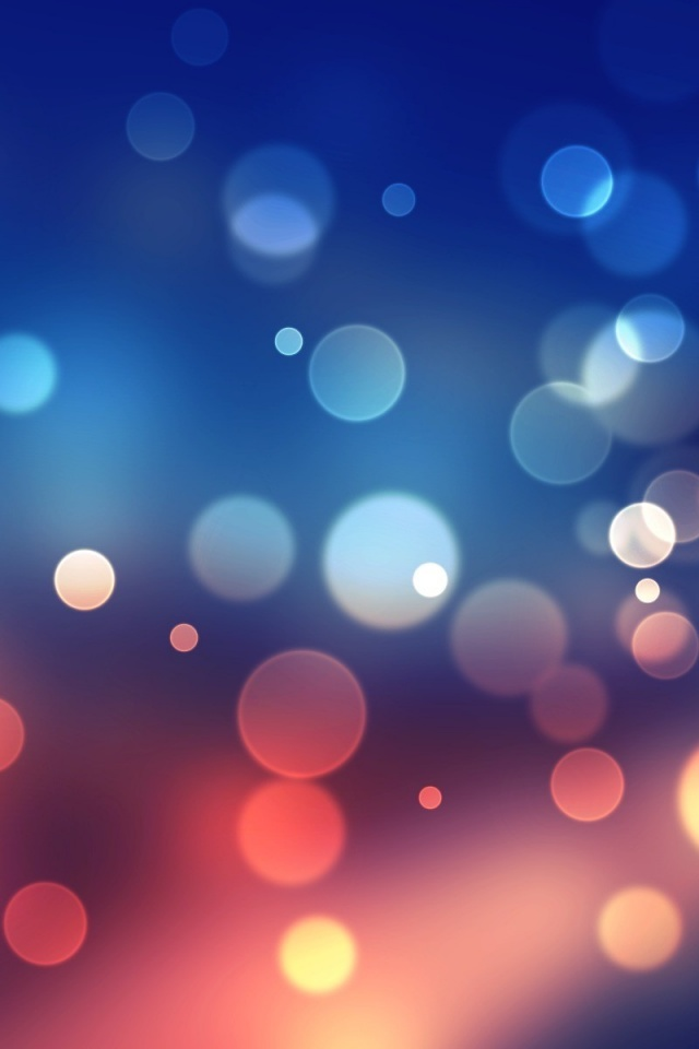 640x960 blue bokeh iphone 4 wallpaper